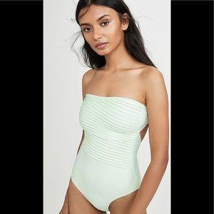 NWT Peony Swimwear Strapless One Piece
